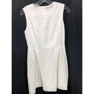 Gap Off-White Linen Sleeveless Dress.  Sz 4.